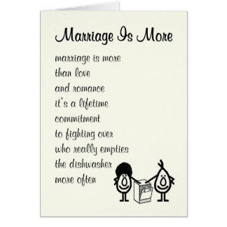 Heirat ist mehr - ein lustiges Glückwunschgedicht Grußkarte