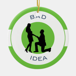 Heirat, Lauf weg von diesem! Keramik Ornament