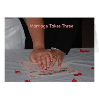 Heirat nimmt drei karte