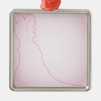 Heirat Silbernes Ornament