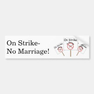 Heirat-Streik-Aufkleber-Weißer Stoßhintergrund Autoaufkleber