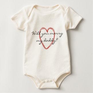 Heiraten Sie meinen Vati? Baby-T-Shirt Baby Strampler
