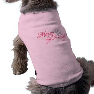 Heiraten Sie meinen Vati Ärmelfreies Hunde-Shirt