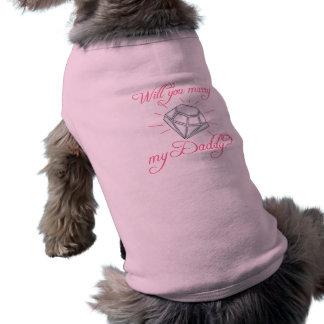 Heiraten Sie meinen Vati? Ärmelfreies Hunde-Shirt