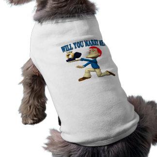 Heiraten Sie mich 12 Ärmelfreies Hunde-Shirt