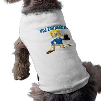 Heiraten Sie mich 6 Ärmelfreies Hunde-Shirt