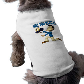 Heiraten Sie mich 9 Ärmelfreies Hunde-Shirt