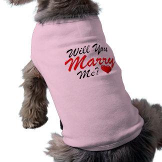 Heiraten Sie mich? Ärmelfreies Hunde-Shirt