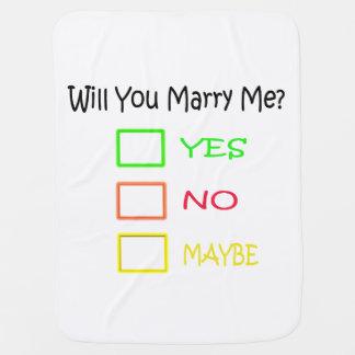 Heiraten Sie mich? Babydecke