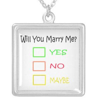 Heiraten Sie mich durch Shirley Taylor Versilberte Kette