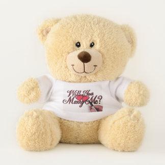 Heiraten Sie mich Herz Teddybär