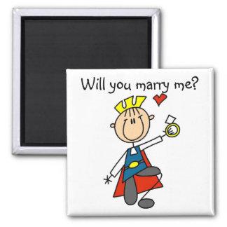Heiraten Sie mich Hochzeits-Antrag-T-Shirts und Quadratischer Magnet