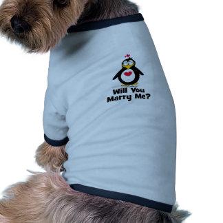 Heiraten Sie mich Hund Tshirt