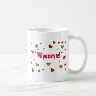 Heiraten Sie mich? Kaffeetasse