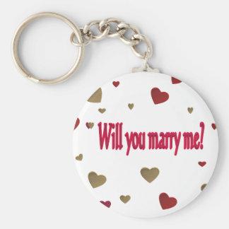 Heiraten Sie mich? Schlüsselanhänger