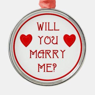Heiraten Sie mich? Silbernes Ornament