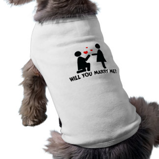 Heiraten Sie mich verbogen Knie-Frau u. Frau Haustiershirt