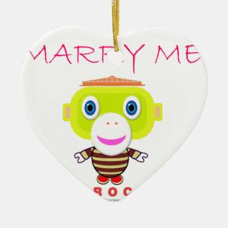 Heiraten Sie Mir-Niedlichen Affen-Morocko Keramik Ornament