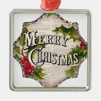 heiraten Sie Weihnachten Silbernes Ornament