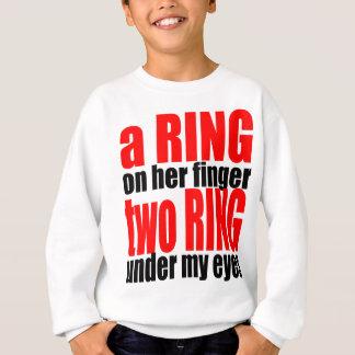 Heiratwirklichkeits-Ringfinger mustert Witz Sweatshirt