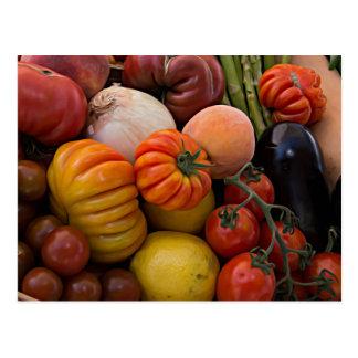 Heirloom-Tomaten Postkarte