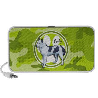 Heiser hellgrüne Camouflage Tarnung PC Lautsprecher