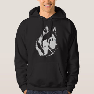 Heisere Hoodie-Wolf-Kunst-mit Kapuze Kapuzensweater