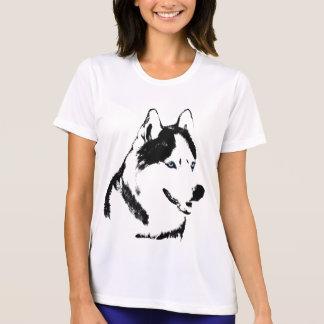 Heisere Shirt-Damen-heiserer Schlitten-Hundeshirt T-Shirt