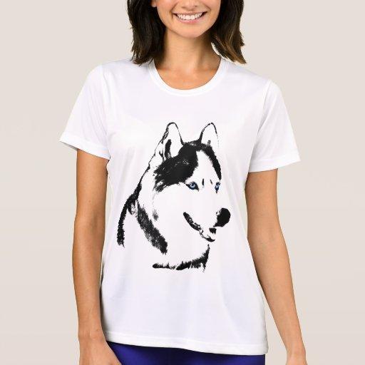 Heisere Shirt-Damen-heiserer Schlitten-Hundeshirt