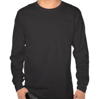 Heisere Shirt-Wolf-Kunst-lange Hülsen-T-Stück T-shirt