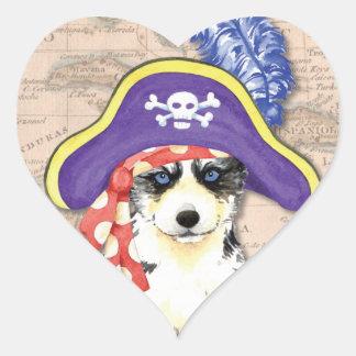 Heiserer Pirat Herz-Aufkleber