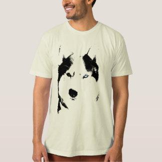 Heiserer T - Shirt-Wolf-heisere Schlitten-HundeBio T-Shirts