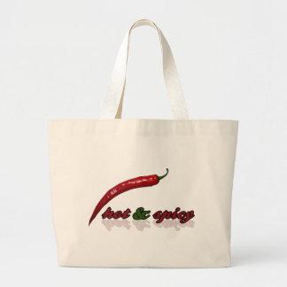Heiß u. würzig einkaufstaschen