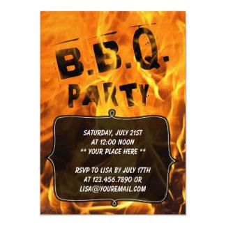 Heiße brennende Feuer-Grill-Party Einladung