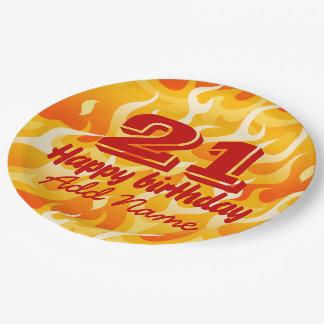 Heiße Flammen Pappteller