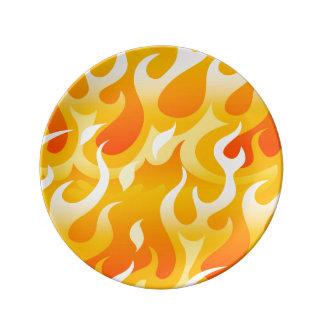 Heiße Flammen Porzellanteller