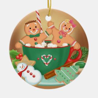 Heiße Kakao-und Lebkuchen-Verzierung Keramik Ornament