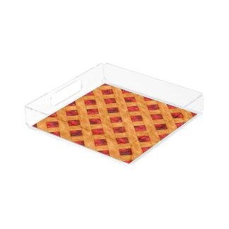 Heiße Kirschtorte Acryl Tablett