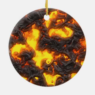 Heiße Lava Keramik Ornament