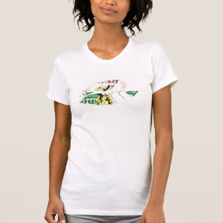 Heiße Lippendamen OM Kappen-Hülse T-Shirt
