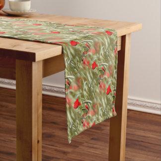 Heiße Mohnblume Kurzer Tischläufer