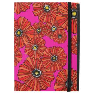 Heiße Mohnblumen Rosa und rotes BlumeniPad Profall