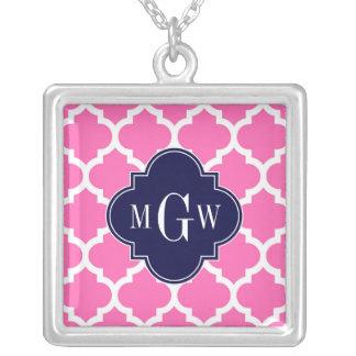 Heiße Pink 2 weiße Anfangsmonogramm des Amuletten
