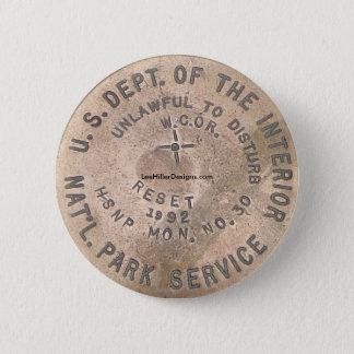 Heiße Quellen, AR US Abteilung des Innenknopfes Runder Button 5,1 Cm