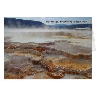 Heiße Quellen in Yellowstone Nationalpark USA Karte