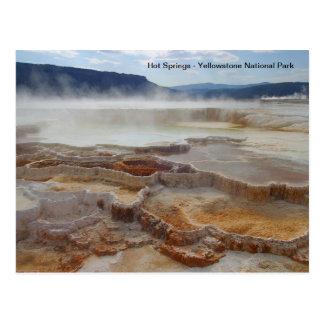 Heiße Quellen in Yellowstone Nationalpark USA Postkarte