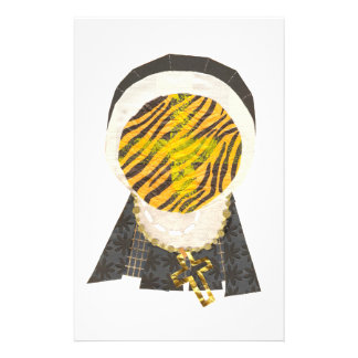 Heiße Querbrötchen-Nonne stationär Briefpapier