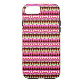 Heiße rosarote Minze und schwarzes Stammes- iPhone 8/7 Hülle