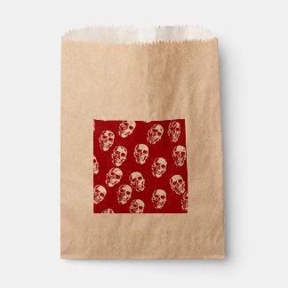 Heiße Schädel, rotes Weiß Geschenktütchen