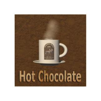 Heiße Schokolade Holzwanddeko